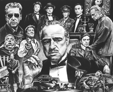 Celebrity Charcoal Drawings